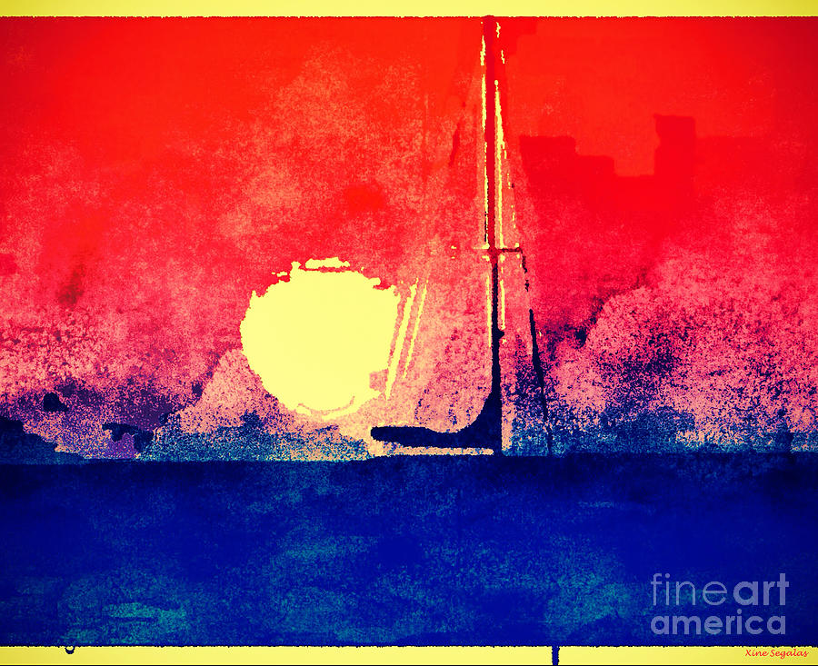 Sailboat Photograph - Last Boat Leaving by Christine Segalas