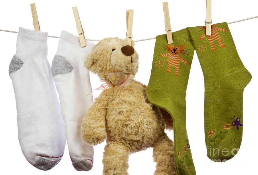 Socks Photograph - Laundry by Blink Images