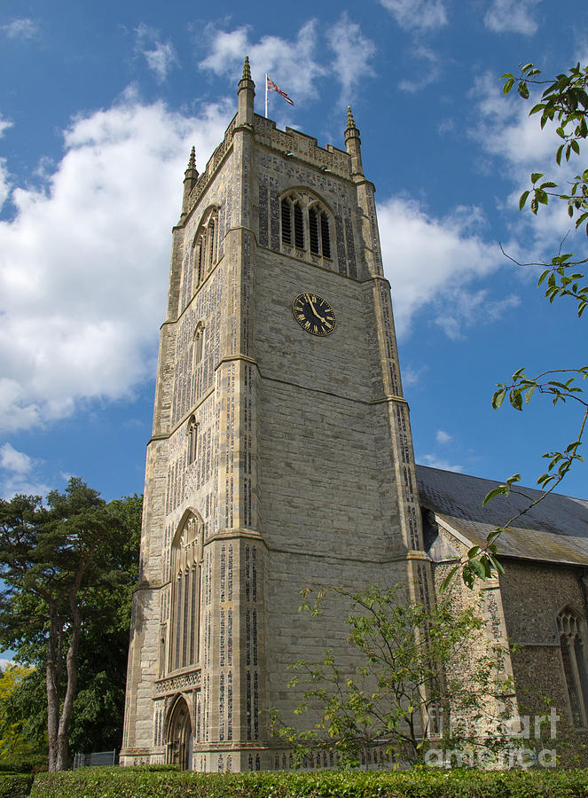 England Photograph - Laxfield Church Tower by Ann Horn
