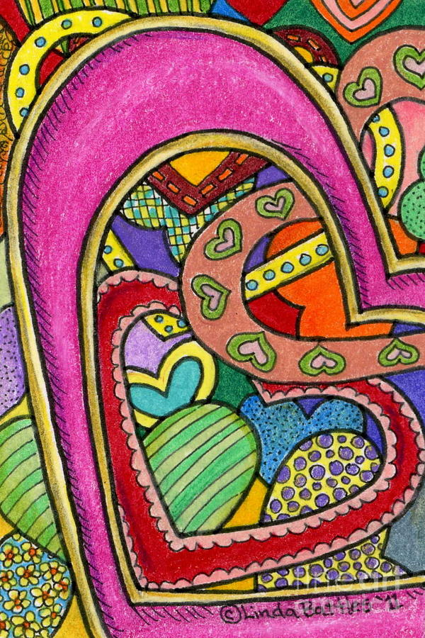 Hearts Mixed Media - Layers Of Love by Linda Battles