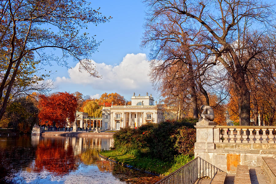 Bath Photograph - Lazienki Park In Warsaw by Artur Bogacki