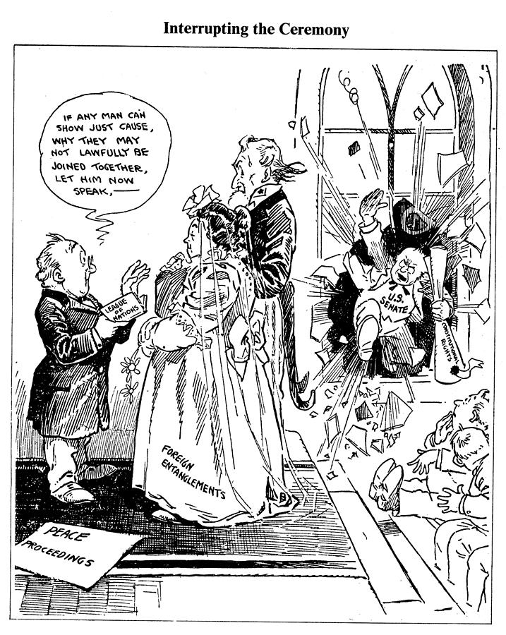 1918 Drawing - League Of Nations Cartoon by Granger