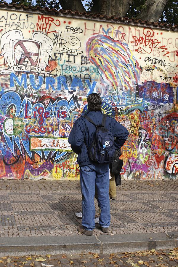 Anti-war Photograph - Lennon Wall, Prague by Mark Williamson