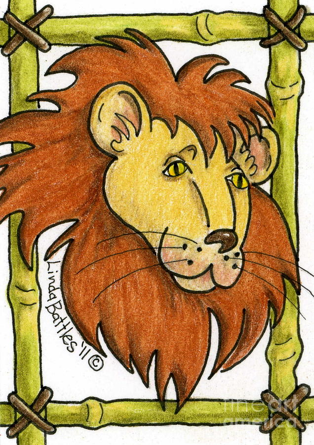 Lion Mixed Media - Leo by Linda Battles