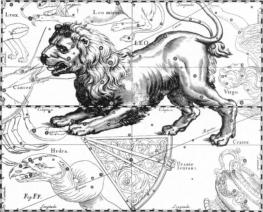 Science Photograph - Leo, The Hevelius Firmamentum, 1690 by Science Source