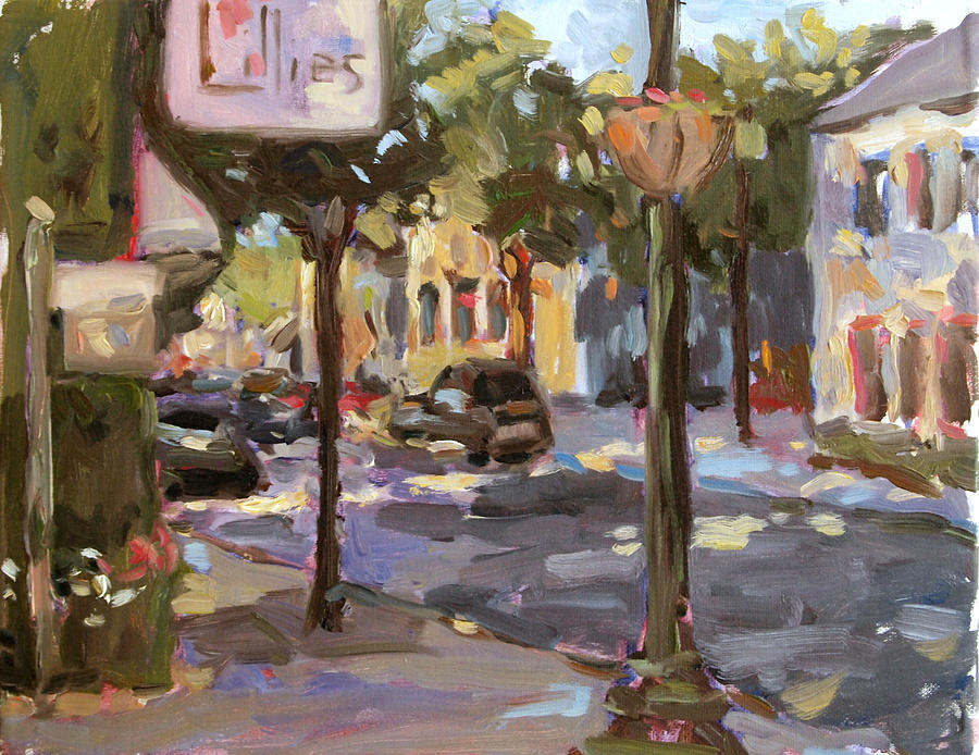 Cedarburg Wisconsin Painting - Lillies by Jenny Anderson