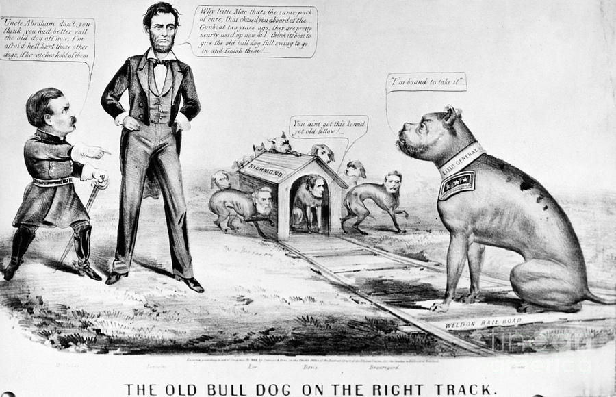 Lincoln Cartoon 1864 Photograph By Granger