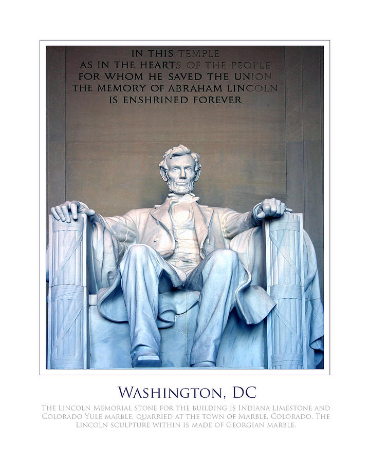 Washington Photograph - Lincoln Memorial by Jim McDonald Photography