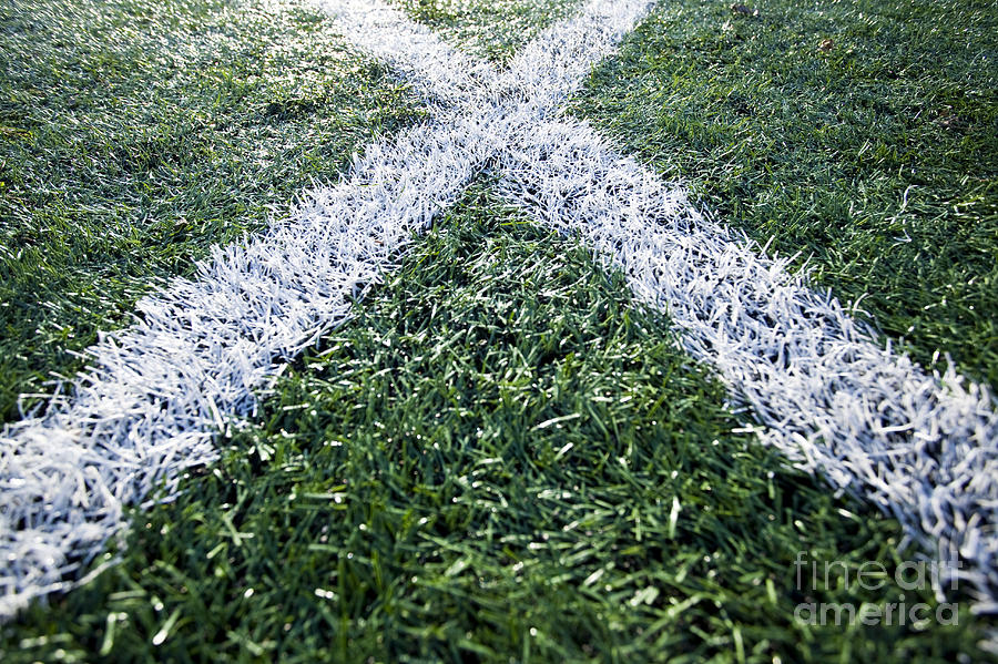 Athletics Photograph - Lines On Sports Field by Paul Edmondson
