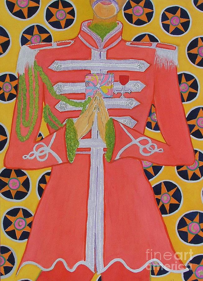 Beatles Painting - Lonely Hearts Club Member George by Barbara Nolan