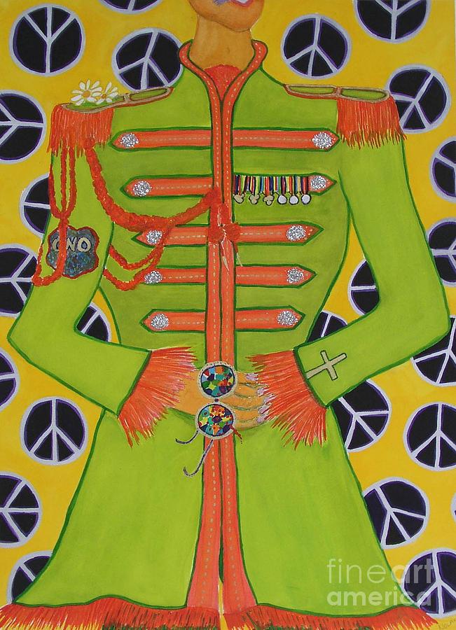 Beatles Painting - Lonely Hearts Club Member John by Barbara Nolan