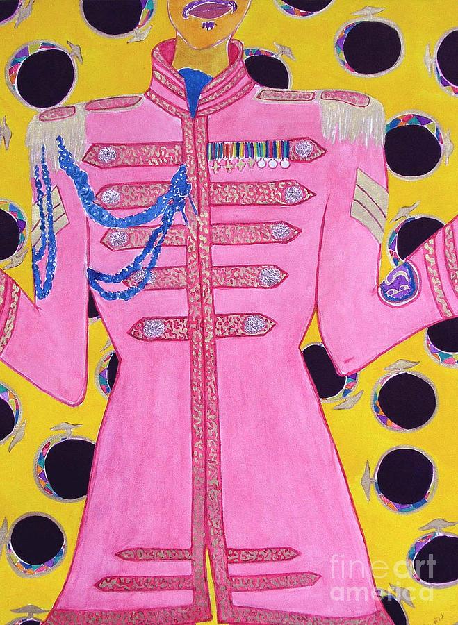 Beatles Painting - Lonely Hearts Club Member Ringo by Barbara Nolan