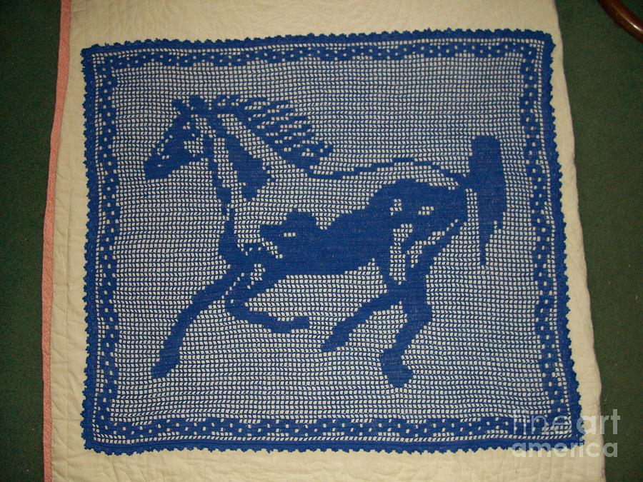 Horse Tapestry - Textile - Lonesome by Becky Furr