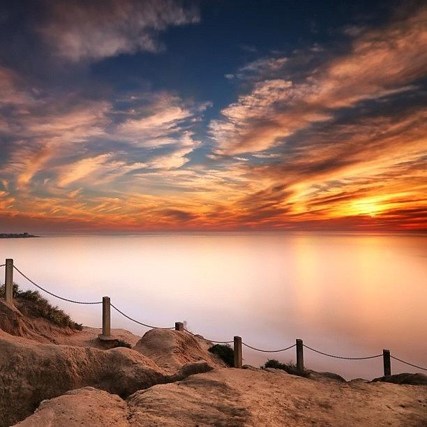 Long Exposure Of Last Nights Sunset Photograph by Larry Marshall