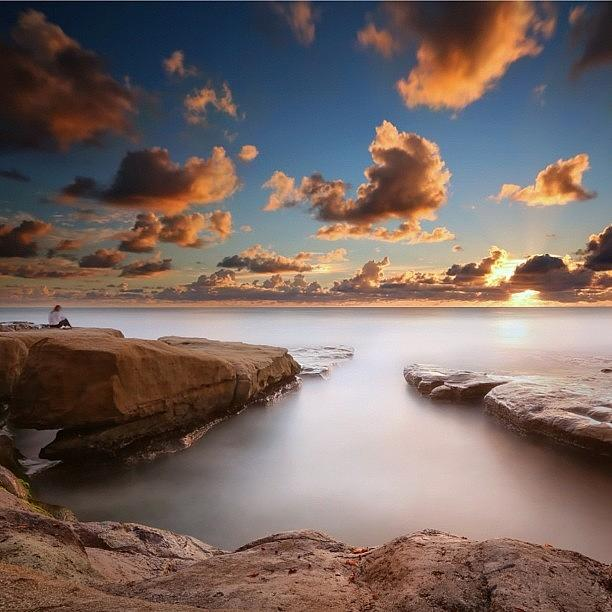 Long Exposure Sunset At A San Diego Photograph by Larry Marshall
