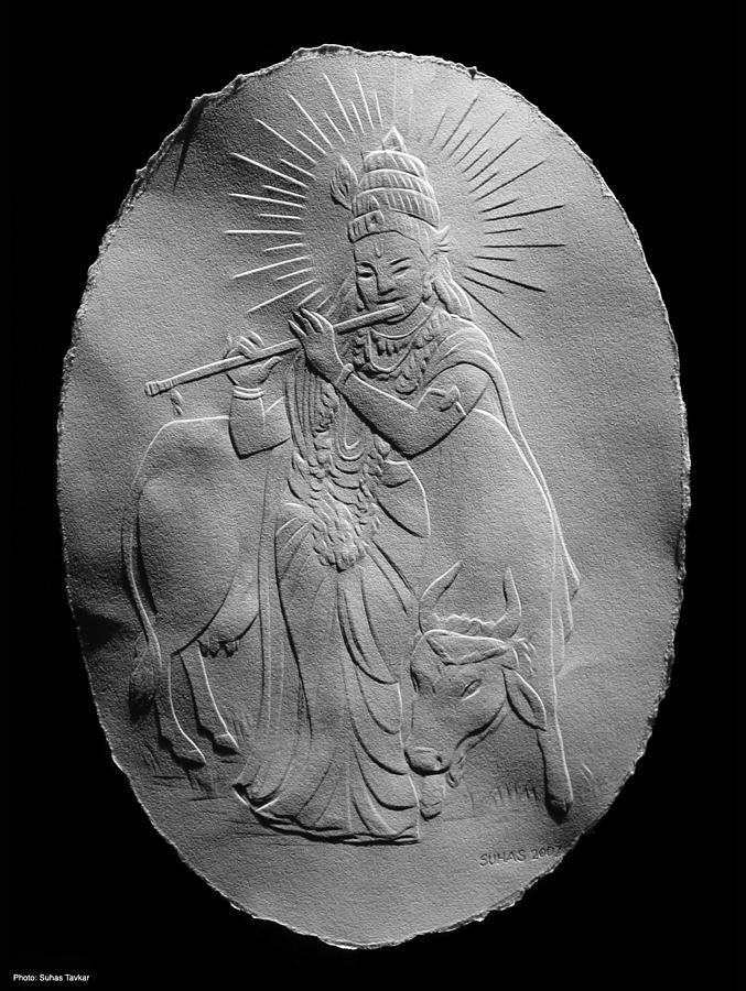 Lord Krishna Relief by Suhas Tavkar