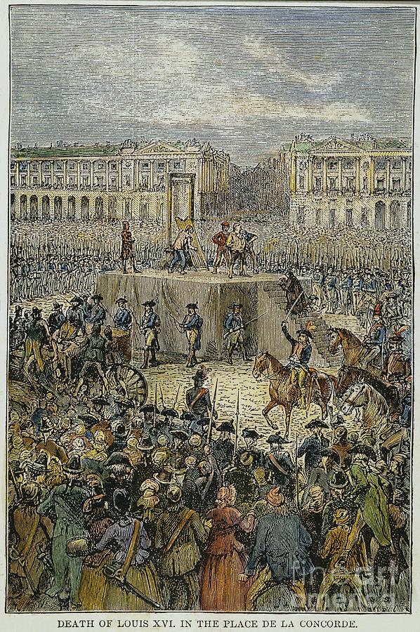 1793 Photograph - Louis Xvi: Execution, 1793 by Granger