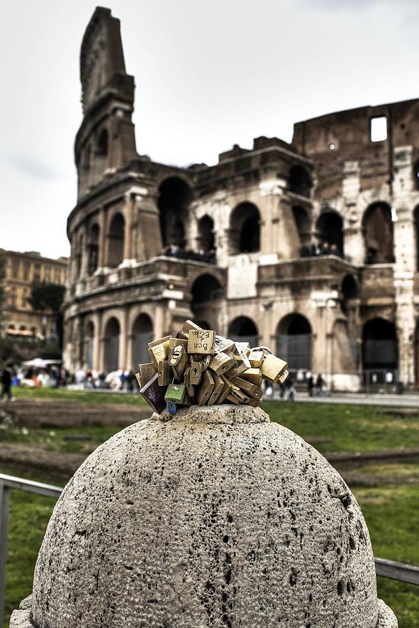 Love Photograph - love locks in Rome by Joana Kruse
