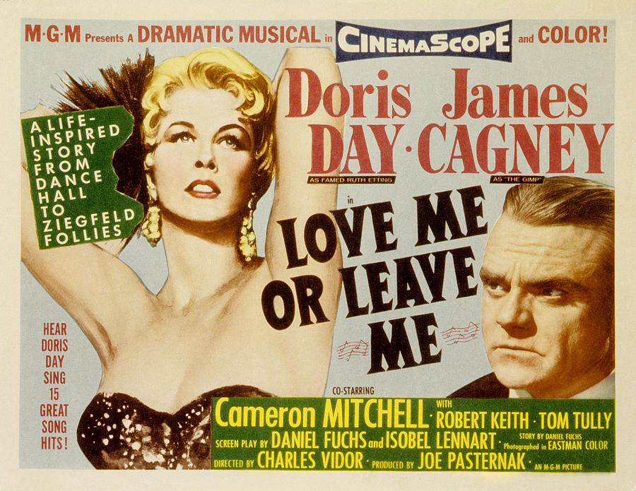 1955 Movies Photograph - Love Me Or Leave Me, Poster Art, Doris by Everett