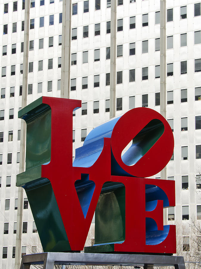 love Park  Photograph - Love Park - Center City - Philadelphia by Brendan Reals