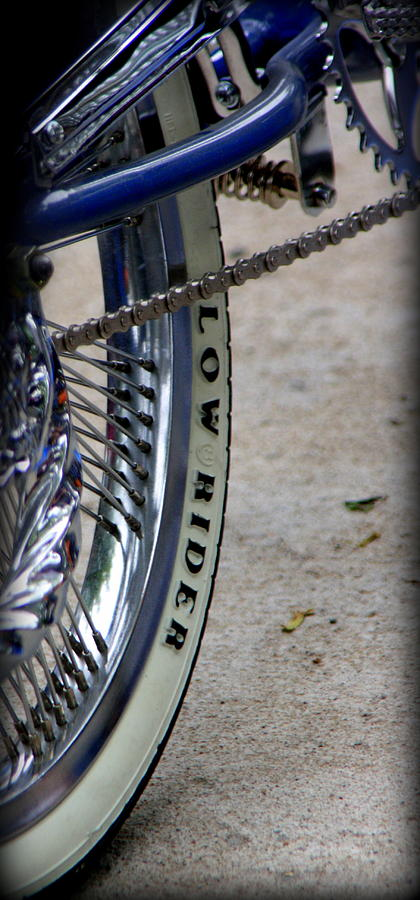 Low Rider In Blue Photograph by Tam Graff