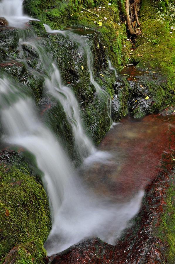 Waterfall Photograph - Lower Buttermilk Falls by Stephen  Vecchiotti
