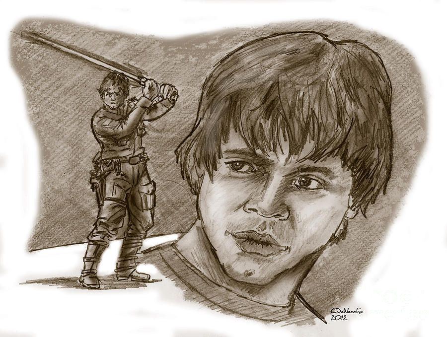 Luke Skywalker Episode V Drawing by Chris  DelVecchio