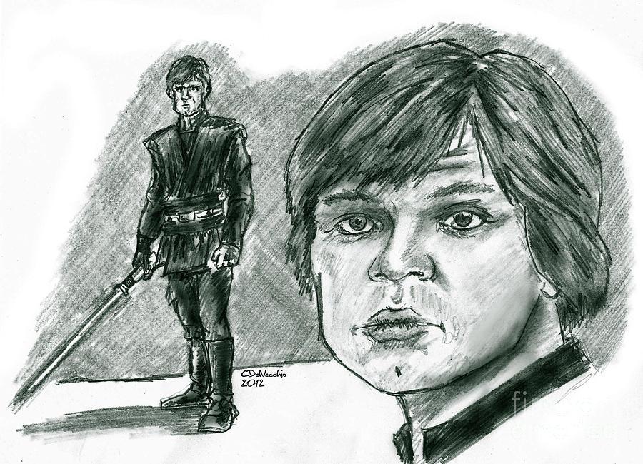 Luke Skywalker Episode Vi Drawing by Chris  DelVecchio