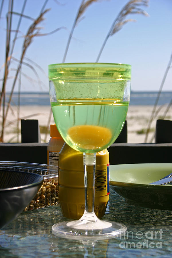 Beach Photograph - Lunch on the Porch by Beebe  Barksdale-Bruner