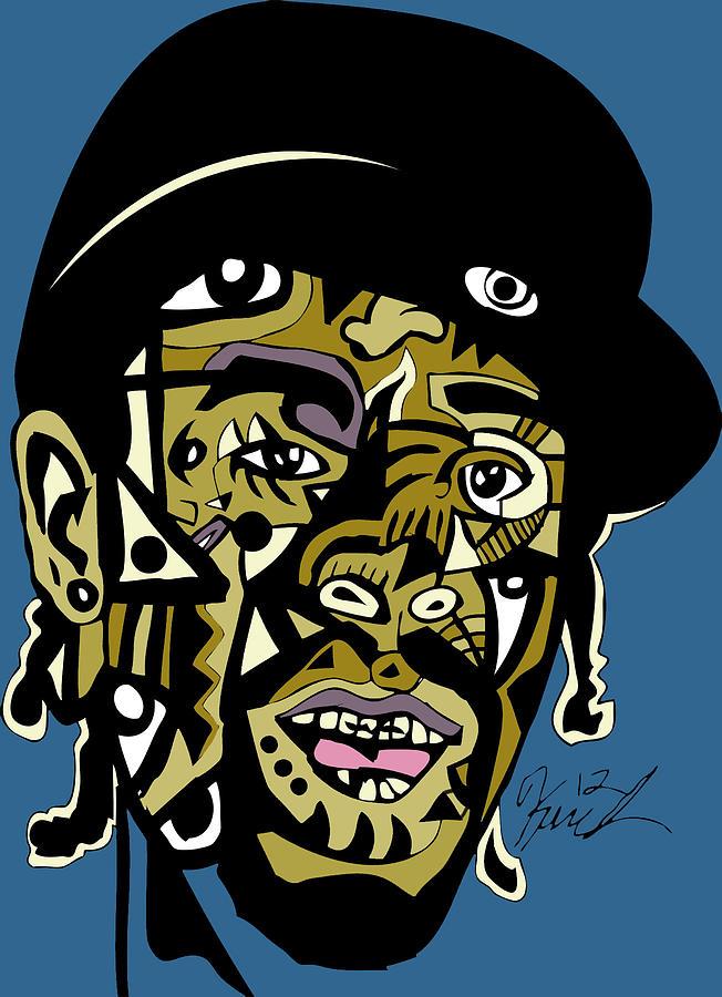 Rapper Digital Art - Mac Dre by Kamoni Khem