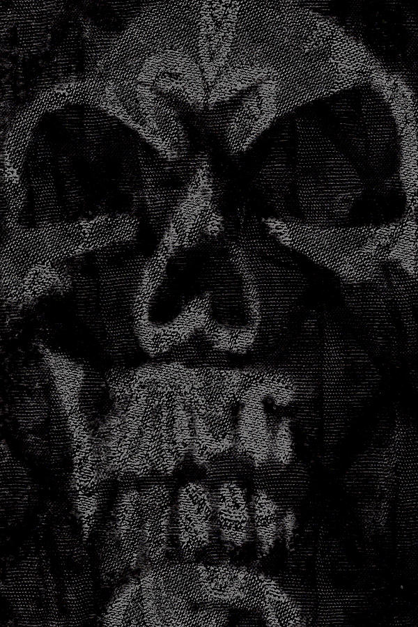 Skull Digital Art - Macabre Skull by Roseanne Jones