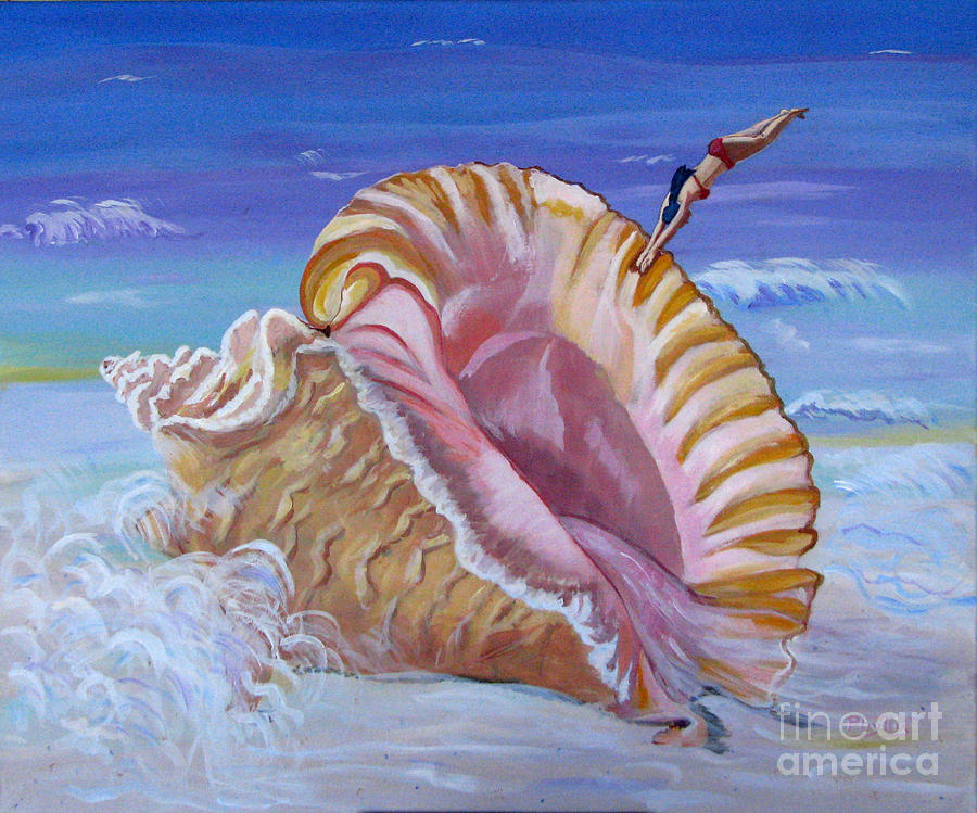 Magic Conch Shell Painting By Phyllis Kaltenbach