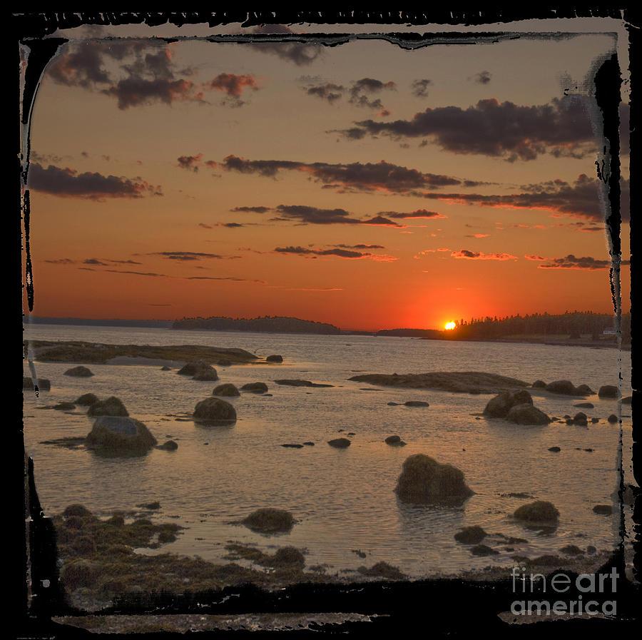 Sunset Photograph - Maine Sunset by Jim Wright