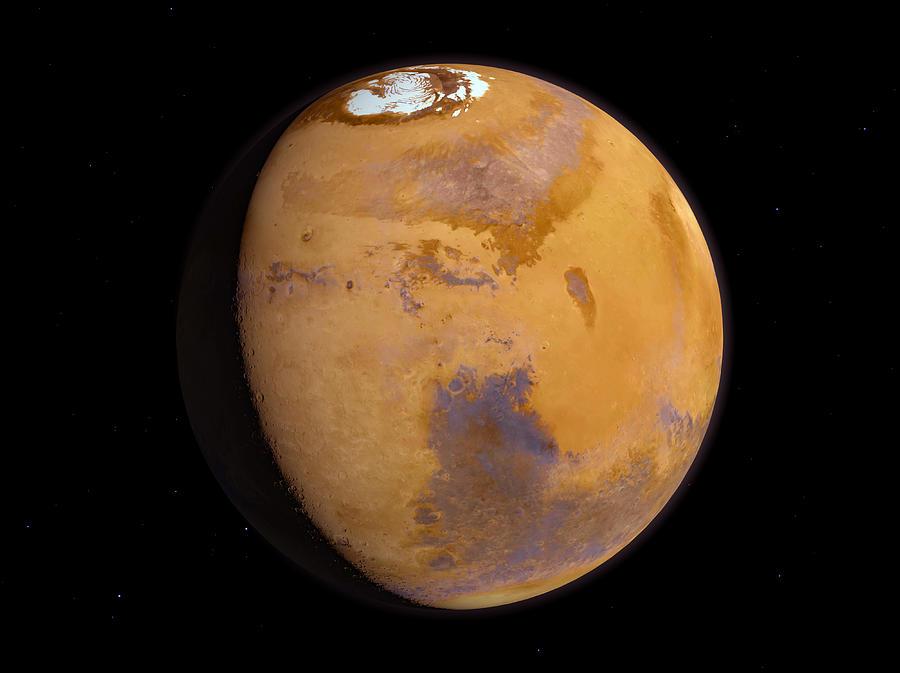 Astronomy Photograph - Mars by Joe Tucciarone