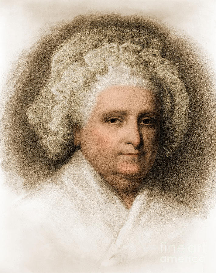 History Photograph - Martha Washington, American Patriot by Photo Researchers