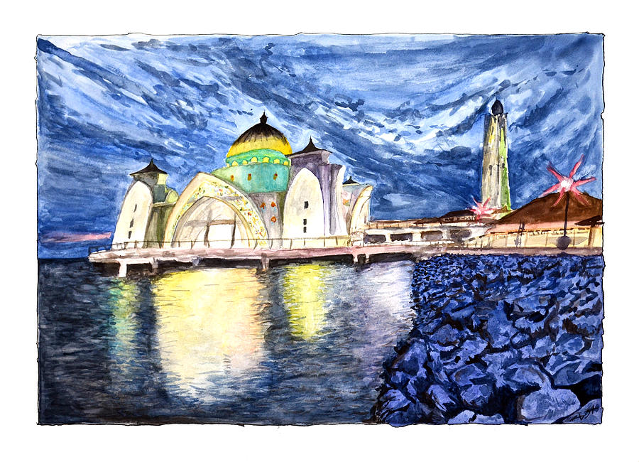 Masjid Selat Melaka of Malaysia by Rafay Zafer