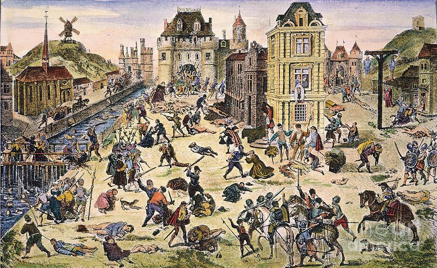 1572 Photograph - Massacre Of Huguenots by Granger