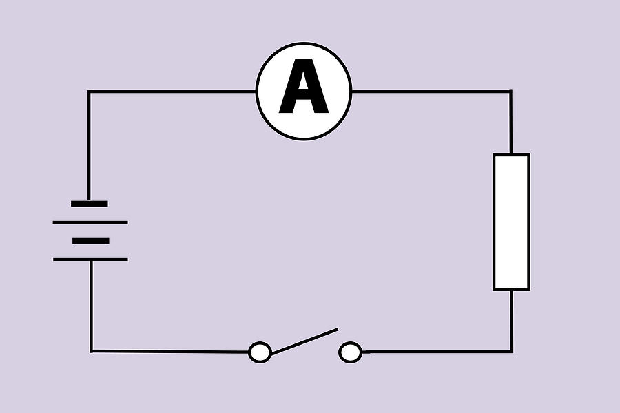 Circuit Diagram Photograph - Measuring Electric Current by Sheila Terry