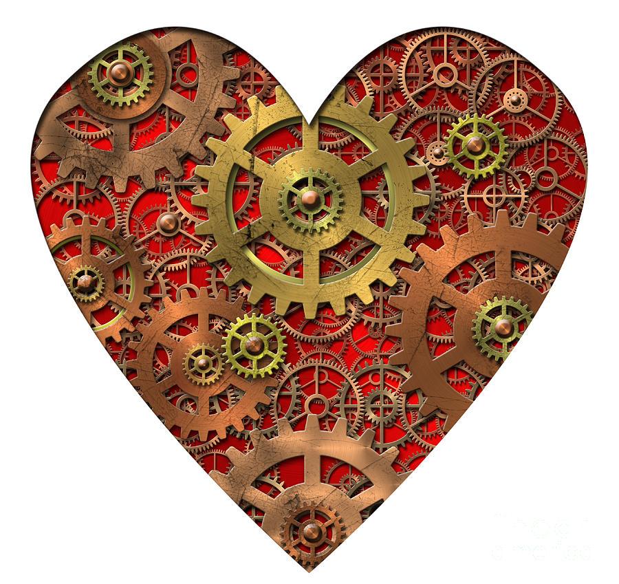 Heart Digital Art - Mechanical Heart by Michal Boubin