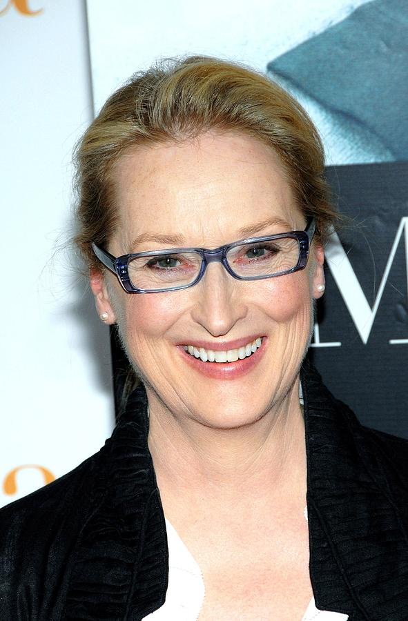 Glasses Frames That Make You Look Younger : Meryl Streep At Arrivals For Julie & Photograph by Everett