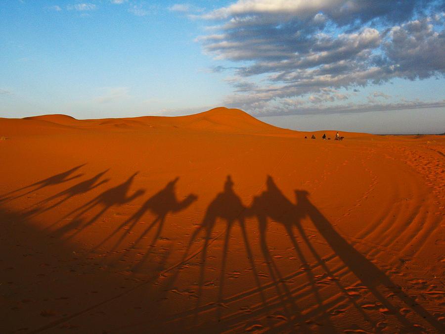 Landscape Photograph - Merzouga Desert Morocco by Ian Stevenson