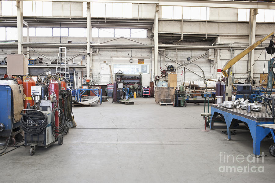 Metal Fabrication Shop Interior Photograph By Jetta