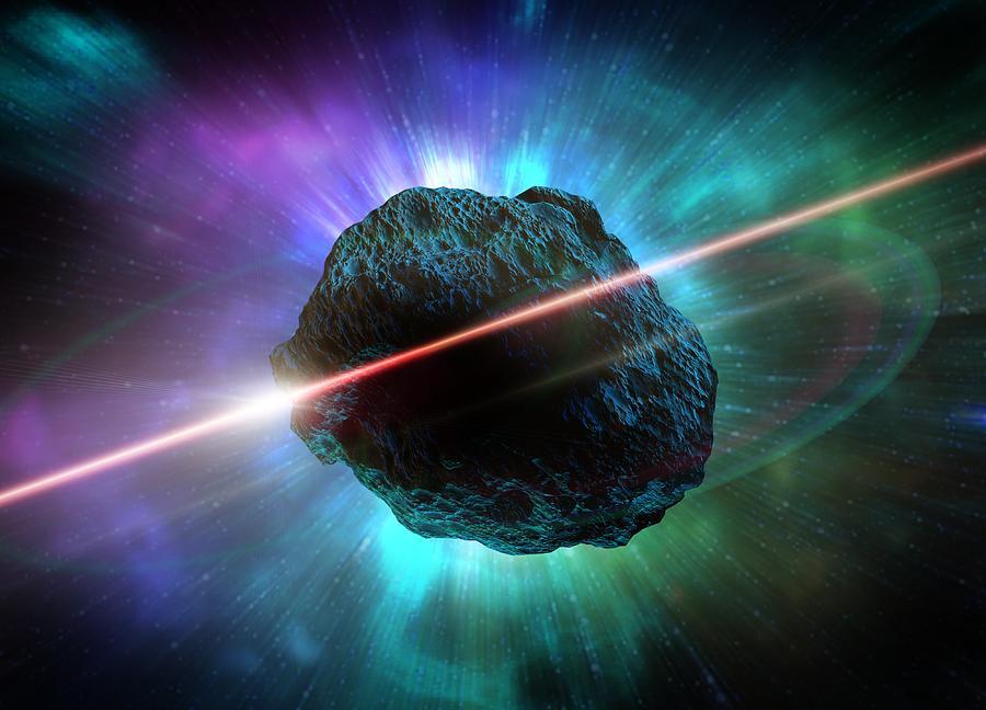 Meteor In Space, Artwork Digital Art by Victor Habbick Visions
