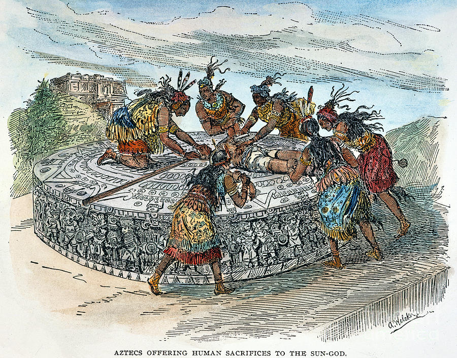 aztecs sacrifices The aztecs firmly believed in giving in order to receive, in offering gifts to the earth in exchange for daily sustenance (food), and in paying the gods back for the sacrifices they had made at the beginning of the fifth sun for human life to begin.