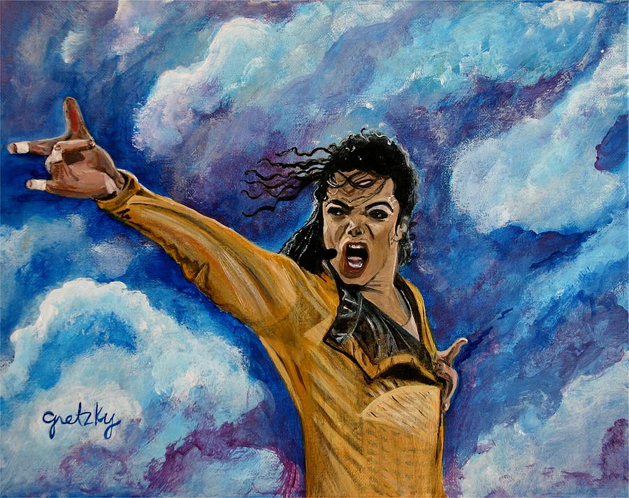 Gretzky Painting - Michael Jackson by Paintings by Gretzky