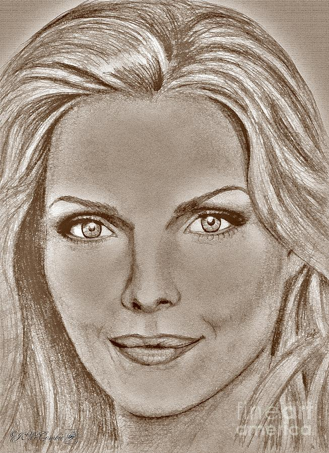 Michelle Pfeiffer Digital Art - Michelle Pfeiffer In 2010 by J McCombie