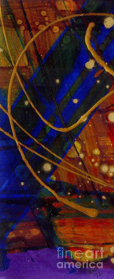 Acrylic Painting - Mickeys Triptych - Cosmos I by Angela L Walker