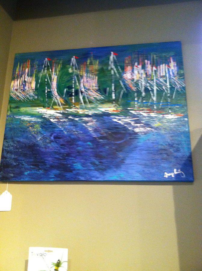 Blues Painting - Midnight Sail by George Riney
