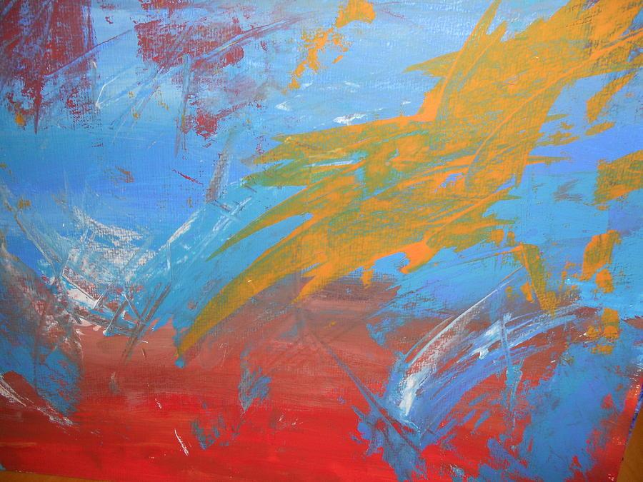 Mir Abstrakci Painting by Luba Ivanova