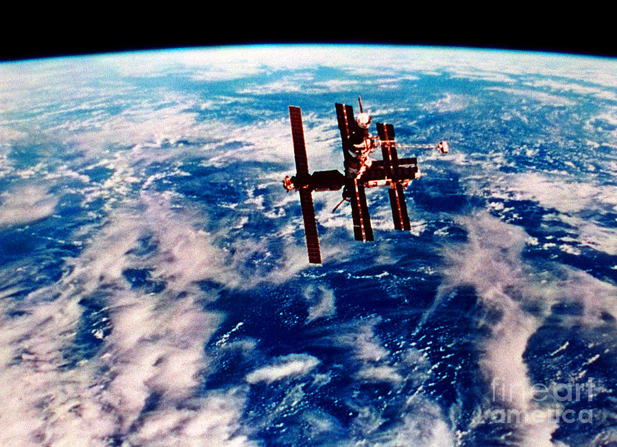 Space Shuttle View Photograph - Mir Space Station by Nasa